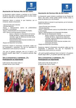 Asociación de Vecinos Alto de San Isidro