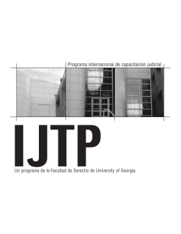 27162 IJTP bro_spanish(single) - Institute of Continuing Judicial