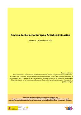 Revista de Derecho Europeo Antidiscriminación