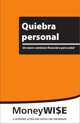 Quiebra personal - Consumer Action