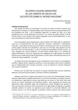 ACUERDO CHILENO-‐ARGENTINO DE LOS