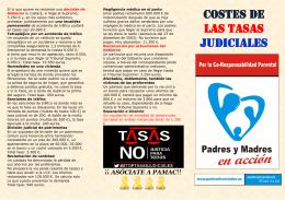 Costes de las TASAS JUDICIALES