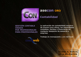 Contabilidad Oro - Asesoweb Profesional