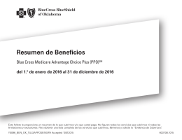 Resumen de Beneficios - Blue Cross and Blue Shield of Oklahoma
