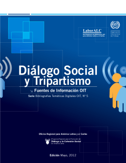 Diálogo Social y Tripartismo. Fuentes de Información OIT