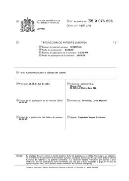 COMPOSICION DE CUIDADO DE CABELLO(ES2076693)