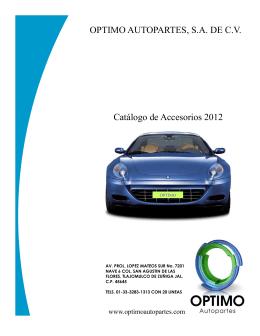 Catálogo OPTIMO Marzo 2012 - Grupo Fernando Automotriz