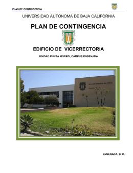 PLAN DE CONTINGENCIA - Vicerrectoría Ensenada