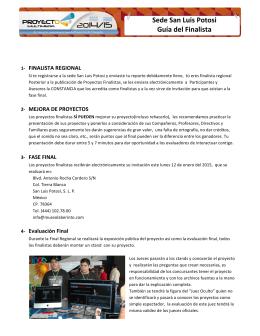 Sede San Luis Potosi Guía del Finalista