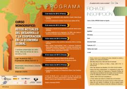 PROGRAMA FICHA DE INSCRIPCIÓN - Plataforma educativa Por una