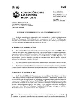 Informe de los Presidentes del Comité permanente
