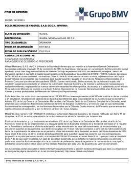 Aviso de derechos - Hilasal Mexicana