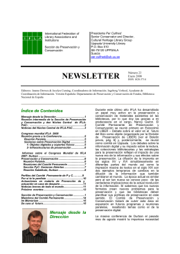Newsletter Número 23 2008