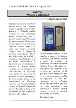 Carta Informativa 30 - Universidad Nacional de La Matanza