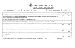 Guía de Tareas / Ciclo Escolar 2014