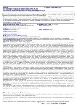FONCAIXA PREMIUM RENDIMIENTO IV, FI