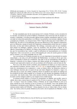 Esculturas romanas de Pollentia - Biblioteca Virtual Miguel de
