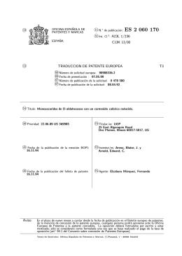 MONOSACARIDOS D-ALDOHEXOSA DE BAJAS CALORIAS