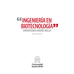 ingeniería en biotecnología - Facultades