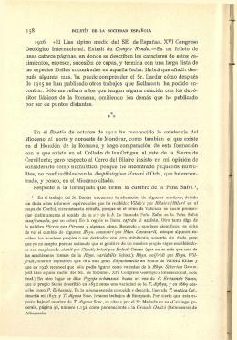 1926. «El Lías alpino medio del SE. de España». XVI Congreso