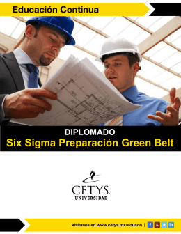 Six Sigma Preparación Green Belt