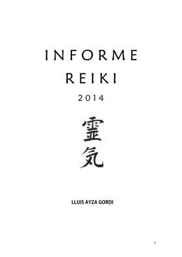 I N F O R M E R E I K I - centre de formació reiki amb experiència