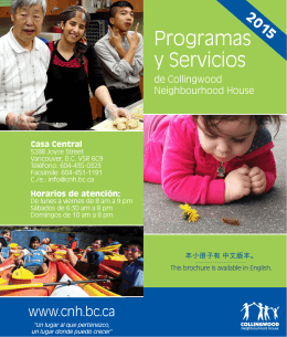 Programas y Servicios - Collingwood Neighbourhood House