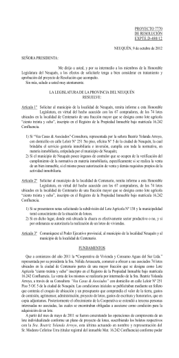 7770, de Resolución - Legislatura de Neuquén