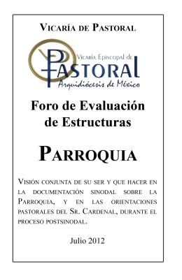PARROQUIA - Vicaría de Pastoral