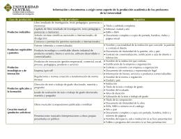 Información y documentos a exigir como soporte de la producción