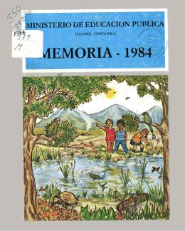 Memoria Ministerio de Educación Pública 1984-1985-1