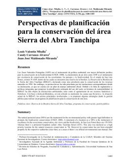 La Reserva de la Biosfera Sierra del Abra Tanchipa