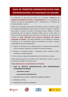 guia de trámites administrativos para emprendedores extranjeros en