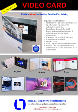 VIDEO CARD - Merchandising y Regalos promocionales