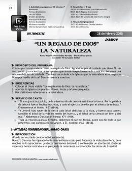 Programas ES 1T-2015 UIO - Recursos Escuela Sabática