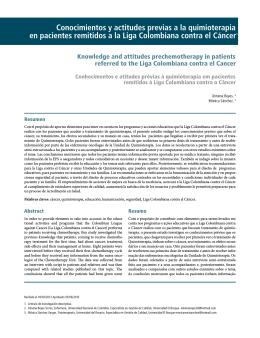 Conocimientos y actitudes previas a la quimioterapia en pacientes