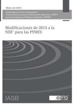 Fundamentos de las Conclusiones de las Modificaciones de 2015