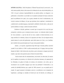 Informe en minoría del senador Francisco Gallinal