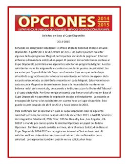 Opciones 2014-2015