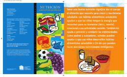 NUTRICIÓN - Children`s Home Society of California