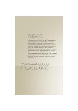 CONTRA-ÁNGULOS Y PIEZAS DE MANO