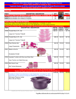 Sales Aids ITEM # DESCRIPTION / DESCRIPCION QTY PRICE