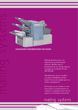 Ensobradora Secap Si3300