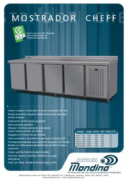 Mostrador Refrigerador modelo cheff 2000