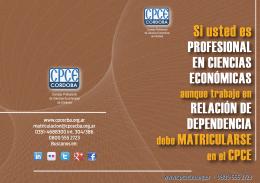 Información clave - Consejo Profesional de Ciencias Económicas