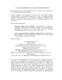 """CONCURSO """"PARTICIPA Y GANA AL INSTANTE CON AVON"""" 1"""