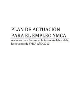 PLAN DE ACTUACIÓN PARA EL EMPLEO YMCA