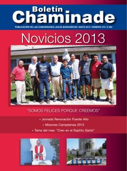 Novicios 2013