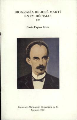 biografía de josé martí en 221 décimas