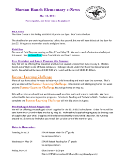 Morton Ranch Elementary e-News
